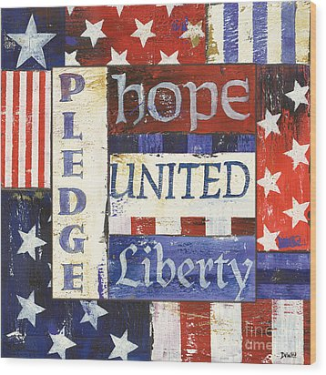 Usa Pride 1 Wood Print by Debbie DeWitt