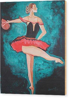 U.s.ballet Dance Wood Print by Anand Swaroop Manchiraju