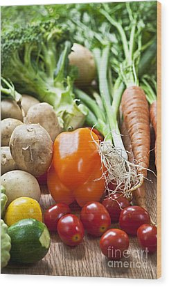 Vegetables Wood Print