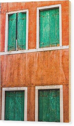 Venetian Houses Wood Print