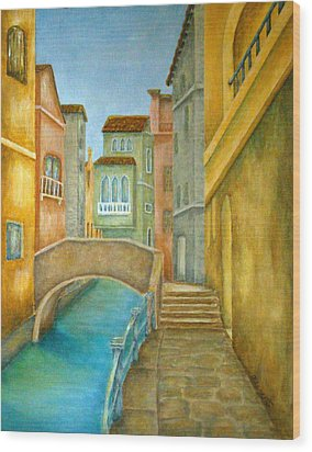 Venezia Wood Print by Pamela Allegretto