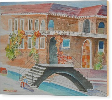 Venice Wood Print by Geeta Biswas