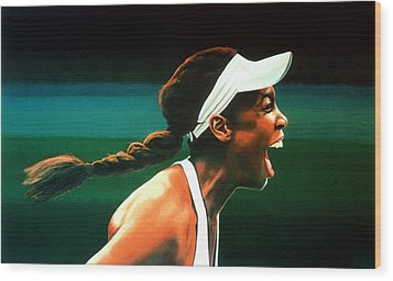 Venus Williams Wood Print by Paul Meijering