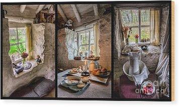 Victorian Cottage Wood Print by Adrian Evans