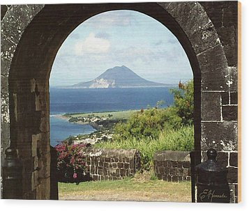 View From Brimstone Hill Fortress Wood Print by Ellen Henneke