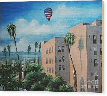 Wood Print featuring the painting View From Olympic Boulevard by Sgn