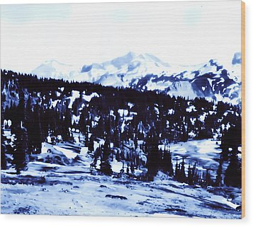 Wood Print featuring the photograph Vintage Mount Rainier Forest Early 1900 Era... by Eddie Eastwood