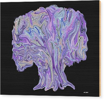 Vision Tree Wood Print by Aliceann Carlton