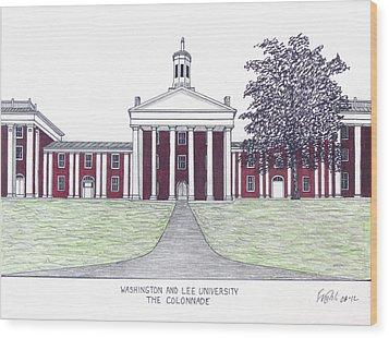 Washington And Lee University Wood Print by Frederic Kohli