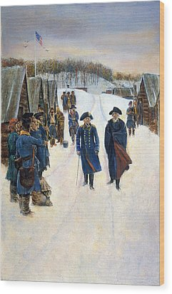 Washington: Valley Forge Wood Print by Granger