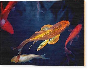 Water Ballet Wood Print