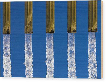 Water Wood Print by Fabrizio Troiani