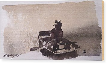 Wood Print featuring the painting Waubascon Lake by Ed  Heaton