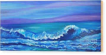 Wave Wood Print by Jenny Lee