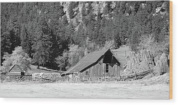 Wood Print featuring the photograph Weathered Barn by Harold Rau