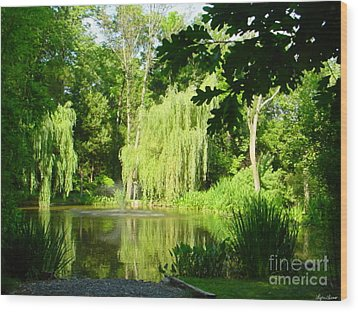 Wood Print featuring the photograph Weeping Willow Pond by Lyric Lucas