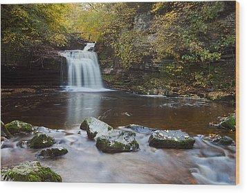 West Burton Falls Wood Print