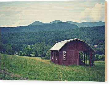 Western North Carolina Farm Wood Print