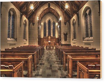 Westminster Presbyterian Church Wood Print by Amanda Stadther