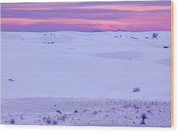 Wood Print featuring the photograph White Sands New Mexico by Bob Pardue