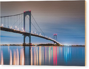 Whitestone Bridge Wood Print