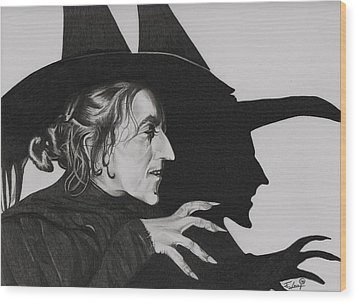 Wicked Witch Of The West Wood Print by Fred Larucci