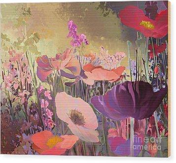 Wild Garden Wood Print