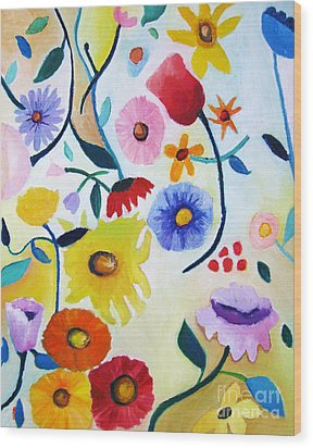 Wildflowers Wood Print by Venus
