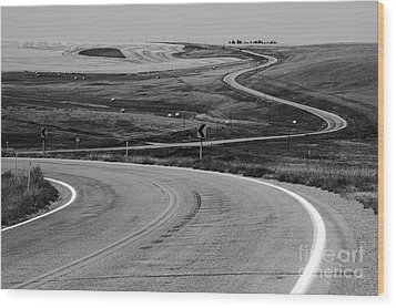 Winding Road Wood Print by Sue Smith