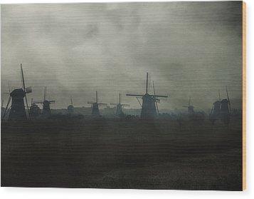 Windmills Wood Print by Joana Kruse