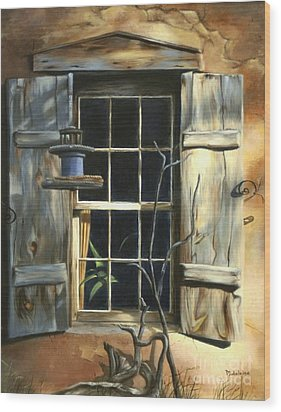 Window Wood Print by Madeleine Holzberg