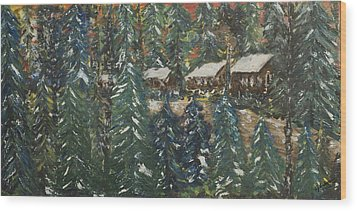 Winter Has Come To Door County. Wood Print by Andrew J Andropolis