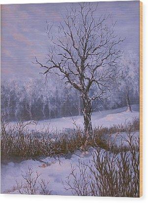 Winter Slumber Wood Print