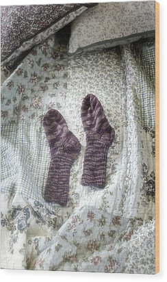 Woollen Socks Wood Print by Joana Kruse