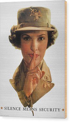 Wwii: Careless Talk Poster Wood Print by Granger