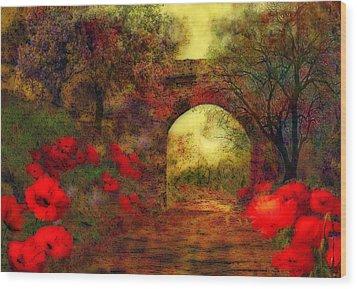 Ye Olde Railway Bridge Wood Print