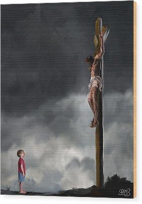 Yes Jesus Loves Me Wood Print by Mark Spears