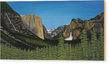 Yosemite Wood Print by Clinton Cheatham