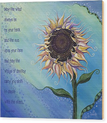 You Are My Sunshine Wood Print by Tanielle Childers