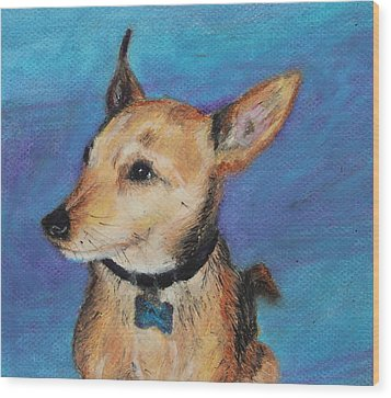 Wood Print featuring the painting Zack by Jeanne Fischer