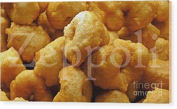 Wood Print featuring the photograph Zeppoli by Lilliana Mendez
