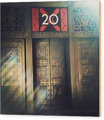 20 Exchange Place Art Deco Wood Print by Natasha Marco