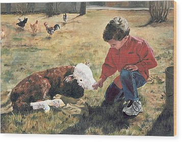 Wood Print featuring the painting 20 Minute Orphan by Lori Brackett