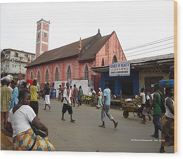 200 Year Old Methodist Church-sani Abacha Street  Wood Print by Mudiama Kammoh