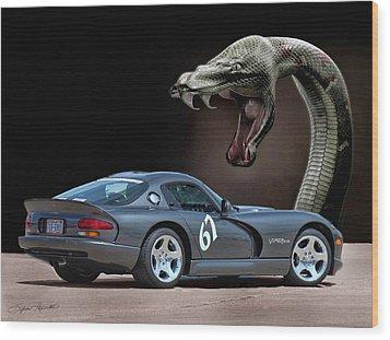2002 Dodge Viper Wood Print by Sylvia Thornton