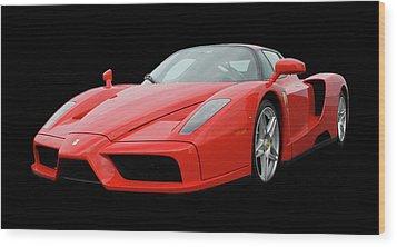 2002 Enzo Ferrari 400 Wood Print by Jack Pumphrey