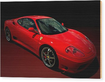 2004 Ferrari 360 Modena Wood Print by Tim McCullough