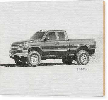 2006 Chevy Silverado 2500 Hd Wood Print by Sarah Batalka