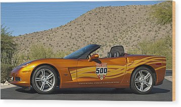 2007 Chevrolet Corvette Indy Pace Car Wood Print by Jill Reger