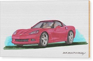 2007 Corvette C 6 Wood Print by Jack Pumphrey